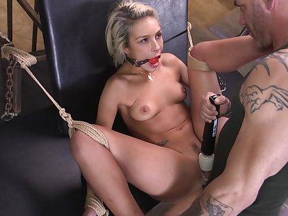 Carmen Caliente endures cock in a brutal bondage play