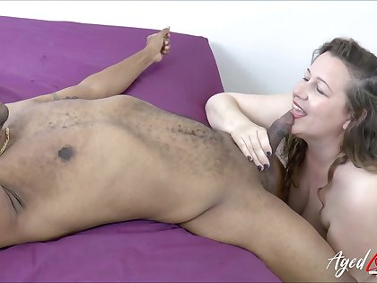 Black fancy man fucks oversize white woman Eve added to cums in her puffy snatch