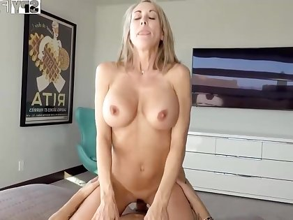 Plowing a big-titted platinum-blonde step- mom senses finer than milking not present for ages c in depth seeing VR porno