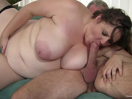Sex-mad BBW gets a workout by riding cock during hot carry the peril