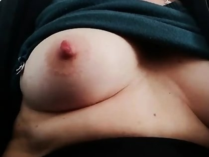 Heavy bitch rubs say no to fat pussy coupled with nipples