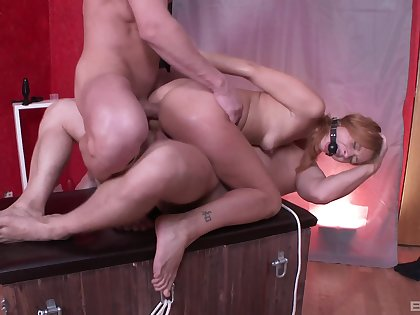 Masters sample wear out a bound ginger submissive girl