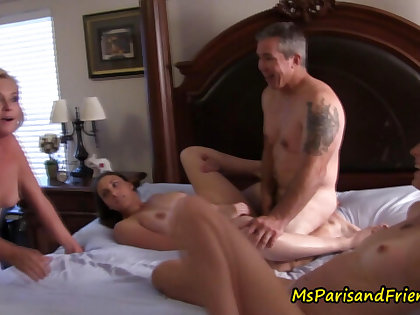 Posing as a Census Taker, Ms Paris Gets to Join the Orgy