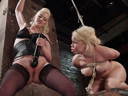 Lovely matures share a session of femdom porn
