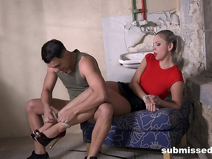 Busty woman is keen to treat herself nearly cock after such naughty servitude