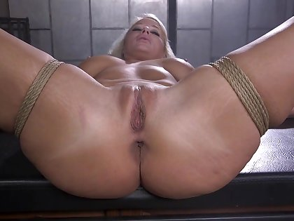 Naked added to bound blonde is fucked in many ways by say no to master