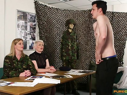 Nude man shows his small dick to Holly Caress plus Sally Cream