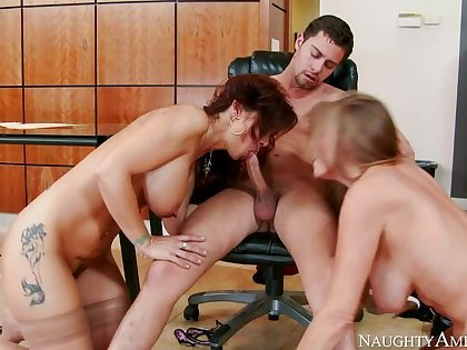 Caucasian Darla Crane fucking in the place with her tits