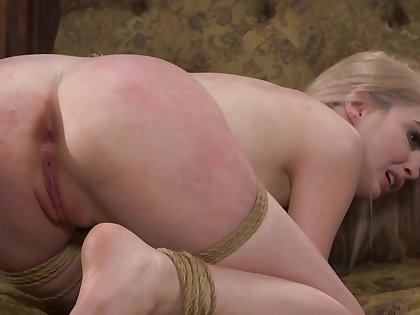 Blonde gets a hard pound with the addition of spanking from her master