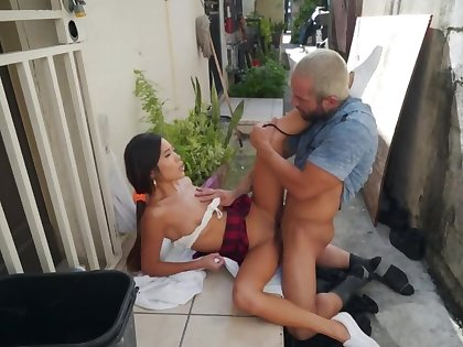 Asian babe can't realize barely acceptable of his well done white cock
