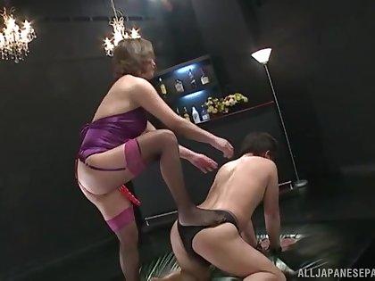 Asian pornstar Shinobu Igarashi sits on his face and fucks his nuisance